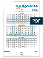 NARAYANA IIT ACADEMY JEE MAIN PMT-1 SOLUTIONS 21-05-2020