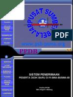 Sistem Penerimaan Peserta Didik Baru SMA Negeri 3 Malang Tahun 2011/2012