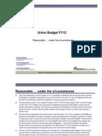 Union Budget_FY12