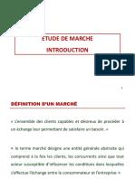 ETUDE DE MARCHE INTRODUCTION