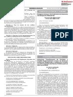 DECRETO SUPREMO 037-2021-EF - Autorizan Transferencia de Partidas y Crédito Suplementario a Favor de Diversos Gobiernos Regionales y Gobiernos Locales en El Presupuesto Del Sector Público Para El Año Fiscal 2021