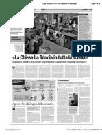 «La Chiesa ha fiducia in tutta la scuola» - Avvenire 01/03/2011