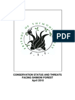 Conservation status and threats facing Shimoni forest
