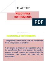 Fin360 Chapter 2 - Negotiable Instrument