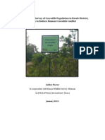 Final Report for Survey of Crocodile Population in Kwale District to Reduce Human-wildlife Conflict