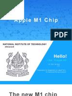 Presentation for Apple M1 chip