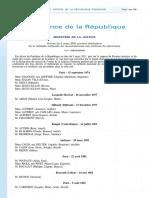 Decret Promotion de La Medaille de Reconnaissance