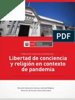 Libertad de Conciencia y Religión en Contexto de Pandemia