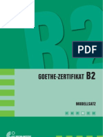 german test level B2 Goethe Zertifikat