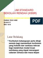 Pemetaan KSSR PJ & PK TAHUN 1