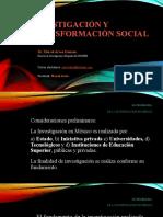 Investigación y transformación social.