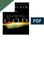 El conocimiento de Dios. J. I. Packer