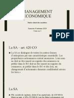 Management Economique SA2020 cours no3