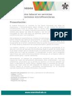 Tecnico Laboral Servicios Operaciones Microfinancieras
