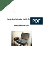 Manual da Fonte de alta tensão CACC