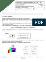 12. La masse volumique, le volume massique et la  densité