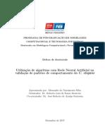 Utilização de algoritmo com Rede Neural Artificial na Validação de padrões de comportamento do C elegans