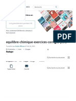 Equilibre Chimique Exercices Corriges Pdf1