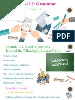 Level 1 Grammar Virtual Class Units 1-4