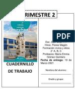 Cuadernillo FORMACIÓN CÍVICA Y ÉTICA 2A, 2B, 2C
