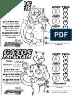 Fichas prontas - Gatos espaciais (tripulação)
