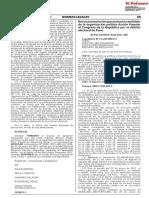 Revocan Resolución Que Excluyó a Candidato de La Organización Política Acción Popular Al Congreso de La República Por El Distrito Electoral de Puno