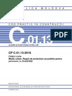 CP-C.01.13-2018 Clădiri Civile. Mediu Urban. Persoane Cu Dizabilități, 2018