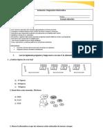 Evaluación Diagnostico Matemática