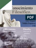 Conocimiento Filosófico - pptx