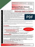 Kentwood School News August 2020