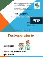 Presentación Post Operatorio