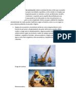 Clasificación de equipos de construcción