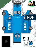 28mm Swat Van Paper Vehicle Miniature
