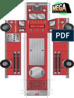 28mm Fire Truck Vehicle Miniature