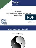 Fundamental Analysis Seminar