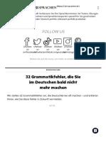 32 Grammatikfehler, die Sie im Deutschen bald nicht mehr machen _ Deutsch perfekt