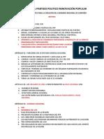 ABSTRAC ESTATUTOS DEL PARTIDO POLITICO RENOVACIÓN POPULAR