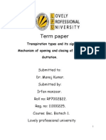 term paper botany