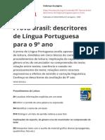 1614803929991 Prova Brasil Descritores de Lingua Portuguesa Para o 9 Anopdf