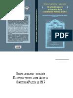Libro Debates Legislativos Articulo Tercero