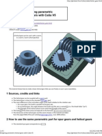 Designing parametric helical gears with Catia V5