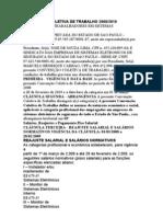 CONVENÇÃO COLETIVA DE TRABALHO 2008 SIESE