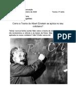 Trabalho física - Relatividade