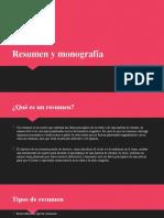 Resumen y Monografía