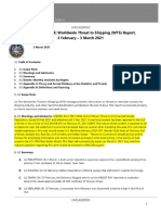 U.S. Navy Office of Naval Intelligence Worldwide Threat to Shipping (WTS) for 3 February to 3 March 2021