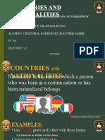 Verbo to Be - Paises y Nacionalidades (Idioma Extranjero)