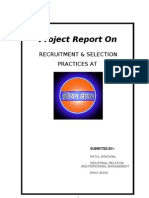 RECRUITMENT & SELECTION PRACTICES AT Indian Oil (IOCL)