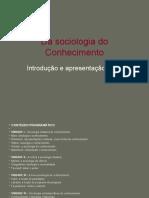 Da Sociologia Do Conhecimento