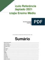 Currículo Referência da Rede Estadual-Ensino Médio 2021
