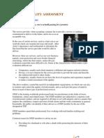 SERVICE QUALITY ASSESSMENT PDF